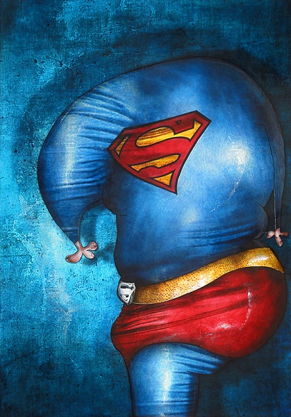 tableau-peintre-contemporain Superman - Copie