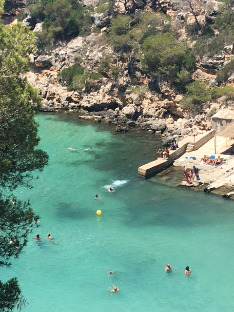 MALLORCA Cala PI la plage vue d'en haut 1