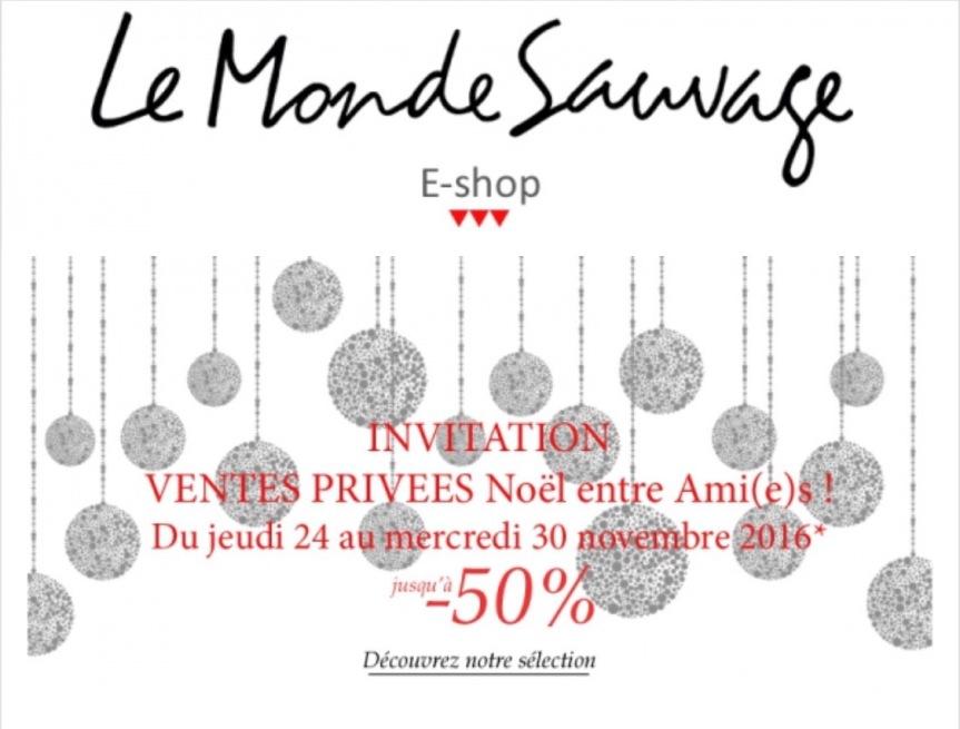 OMG ! Une Vente privée Le Monde Sauvage!Viiiite!