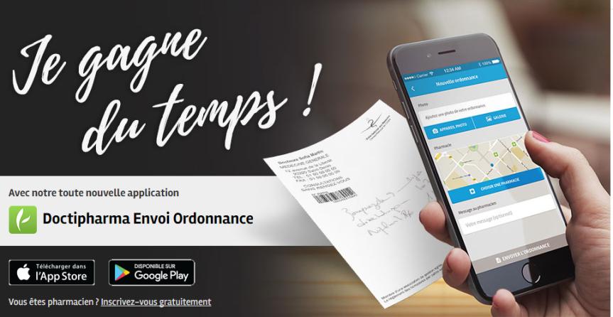 Envoi Ordonnance l'appli santé gratuite indispensable deDOCTIPHARMA