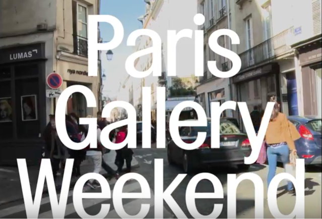 Inauguration du PARIS GALLERY WEEKEND 2017