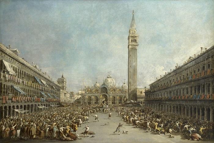 06 Francesco Guardi_le Doge de Venise porté par les gondoliers après son élection sur la place Saint-Marc