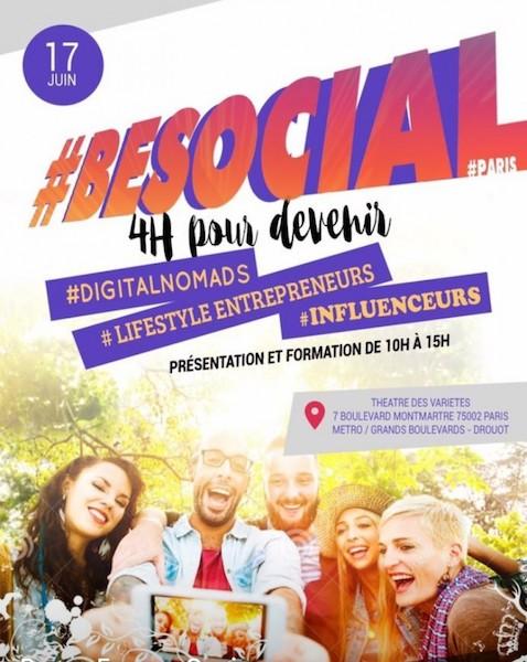 #BeSocial Paris, 4h pour développer une rémunération via les réseauxsociaux