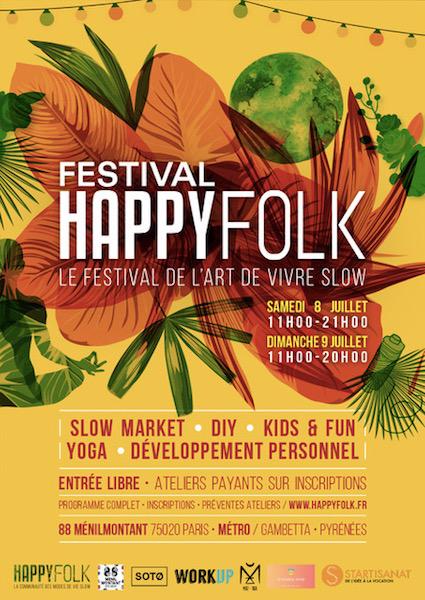 Festival Happy Folk, 1er festival de l'art de vivreSlow