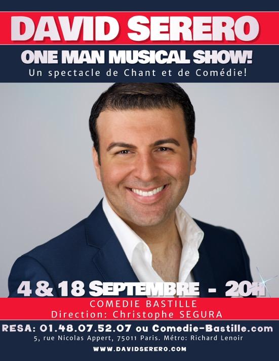 David SERERO à Paris pour 2 shows seulement…