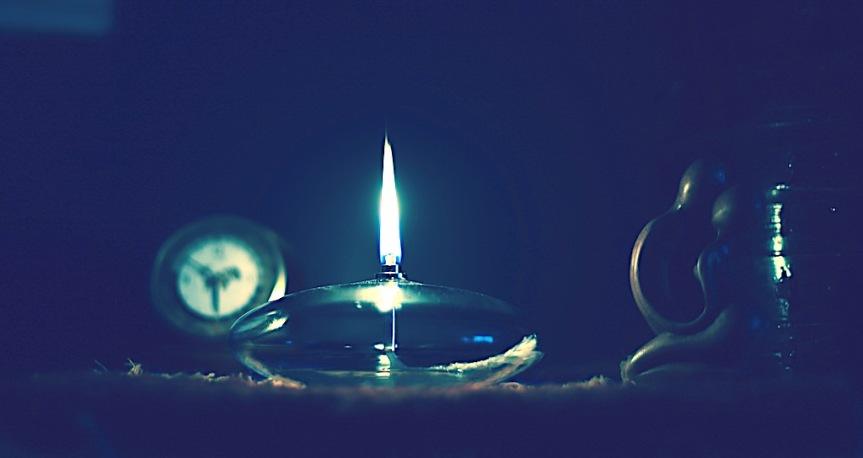 LAMPE A HUILE EN VERRE SOUFFLE 1
