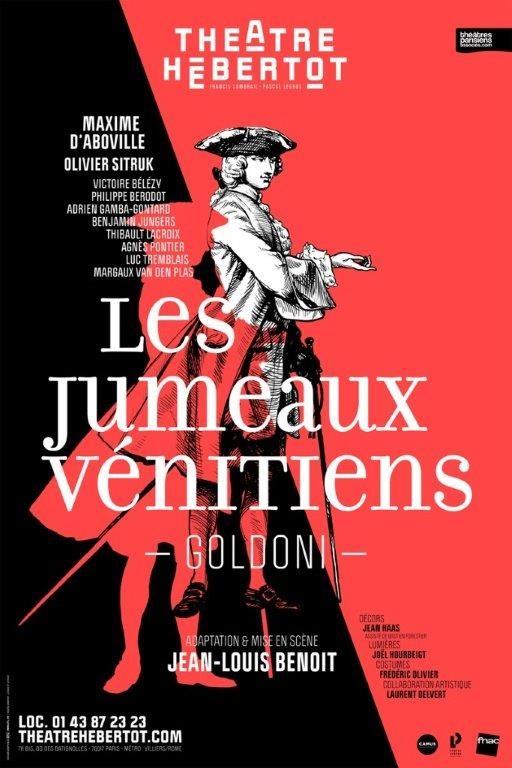 Les Jumeaux Vénitiens de Carlo Goldoni au ThéâtreHébertot