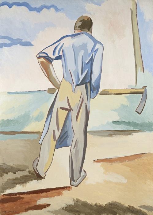 Alberto Magnelli, Lo Zappatore,1922, 124 x 90 cm, Huile sur toile