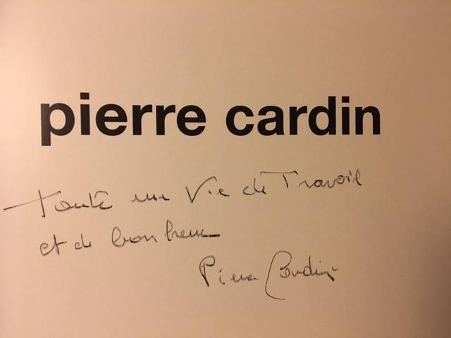 Dédicace de Pierre Cardin