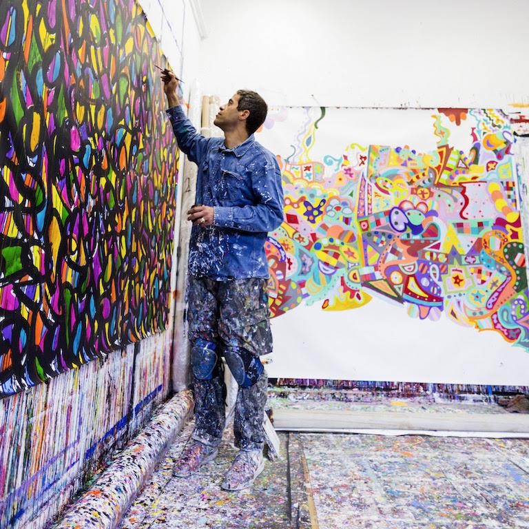 Lefranc Bourgeois invite JonOne pour un live painting aux Beaux Arts deParis.