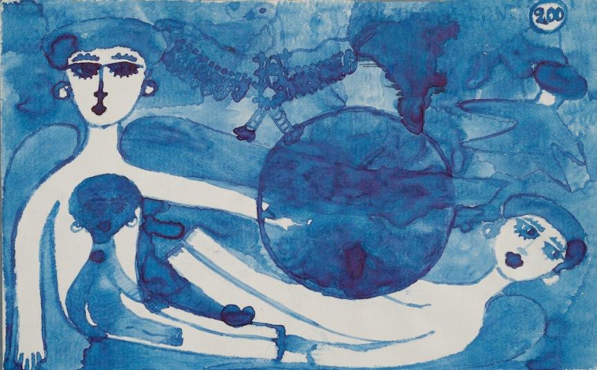 « 200 » [Billet de banque], encre sur papier © Sammlung Prinzhorn Heidelberg