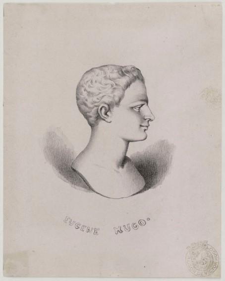 """Anonyme. """"Eugène Hugo"""". Gravure., 1815- 1820. Paris, Maison de Victor Hugo. © Maisons de Victor Hugo / Roger-Viollet"""